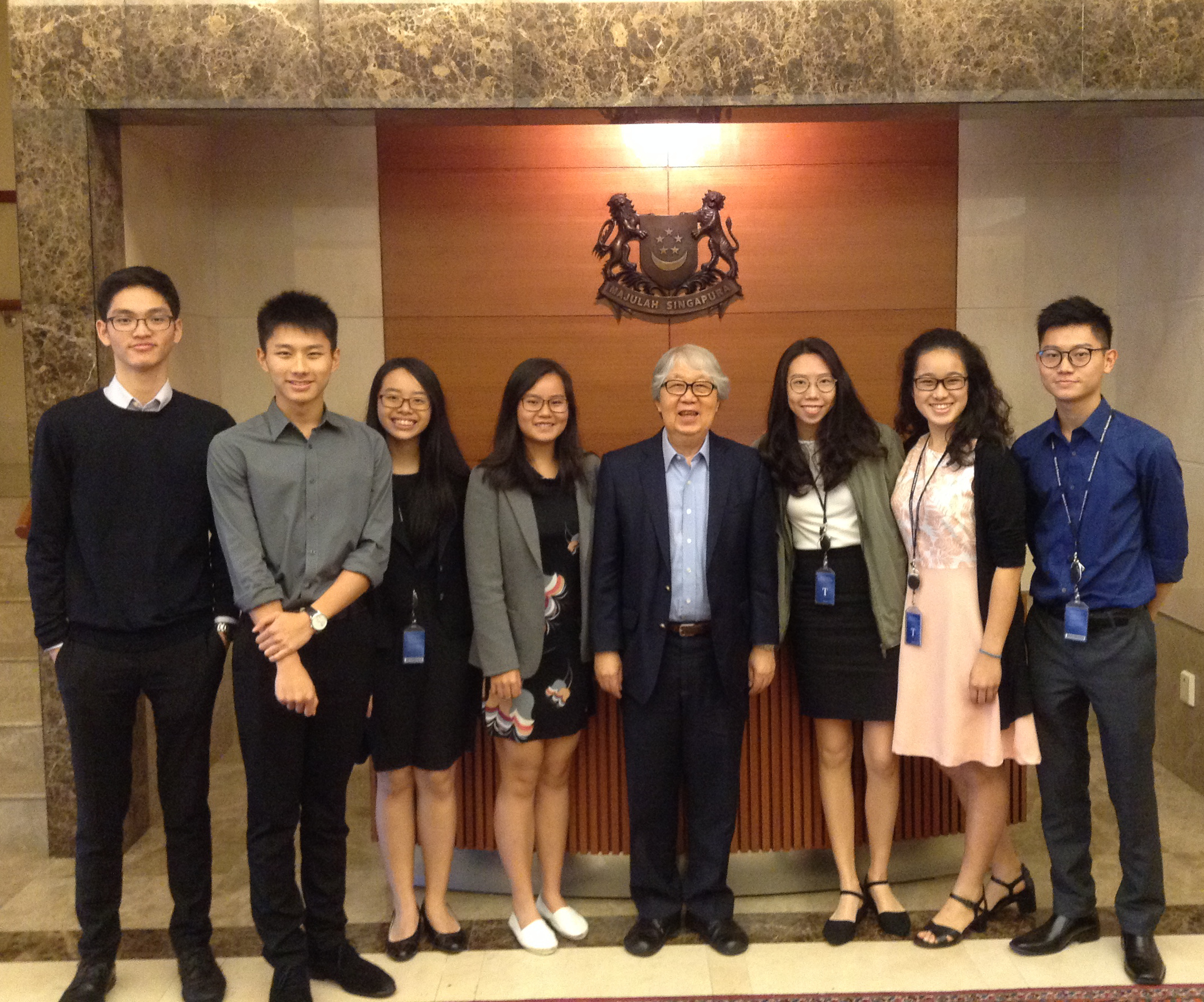 Interns with AAL Tommy Koh